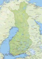 Natuurkundige landkaart Finland