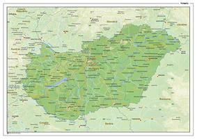 Natuurkundige landkaart Hongarije