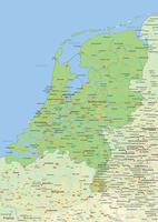 Natuurkundige landkaart Nederland