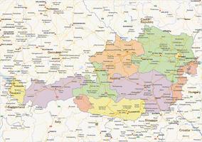 Staatkundige landkaart Oostenrijk