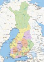 Staatkundige landkaart Finland