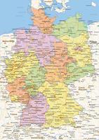 Staatkundige landkaart Duitsland