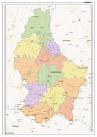 Staatkundige landkaart Luxemburg