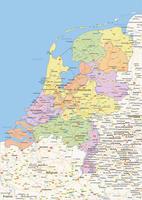 Staatkundige landkaart Nederland