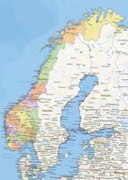 Staatkundige landkaart Noorwegen