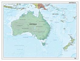 Australië staatkundig met reliëf 1314