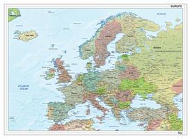 Europa staatkundig met reliëf 1293