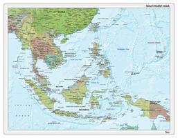 Digitale Zuidoost Azië met reliëf 1313