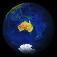 Digitale Wereldbol Australië 548