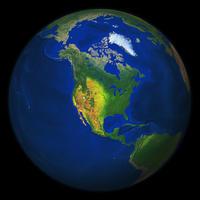 Digitale Wereldbol Noord-Amerika 550