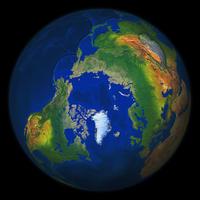 Wereldbol Noordpool 552