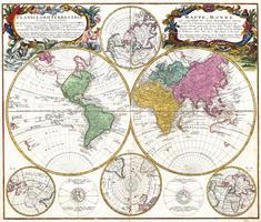 Digitale Wereldkaart George Maurice Lowitz