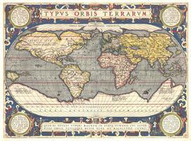 Wereldkaart Abraham Ortelius