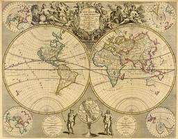 Digitale Wereldkaart John Senex