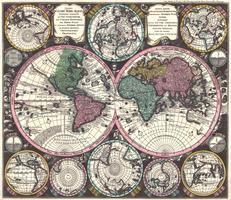 Digitale Wereldkaart Matthaeus Seutter