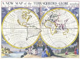 Wereldkaart Edward Wells