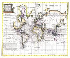 Wereldkaart Bowen