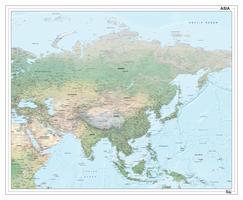 Digitale kaart Azië natuurkundig 1289