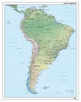 Zuid-Amerika kaart natuurkundig 1286