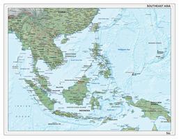 Digitale Zuidoost Azië natuurkundig 1309