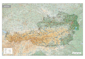 Digitale Oostenrijk Kaart Natuurkundig