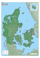 Digitale Denemarken Kaart Natuurkundig