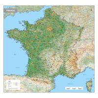 Frankrijk Kaart Natuurkundig