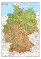 Duitsland Kaart Natuurkundig