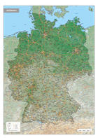 Digitale Duitsland Kaart Natuurkundig