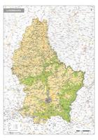 Natuurkundige kaart Luxemburg