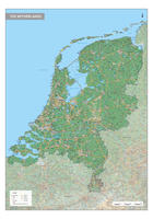 Nederland Kaart Natuurkundig
