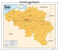 België 2-cijferige postcodekaart 72