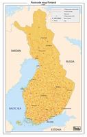 Finland 2-cijferige postcodekaart