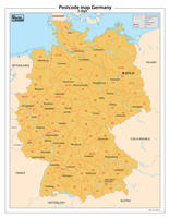 Duitsland 2-cijferige postcodekaart 81