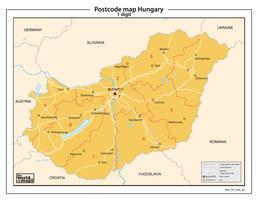 Hongarije 1-cijferige postcodekaart 83