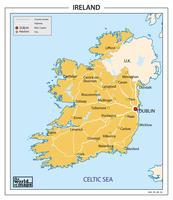 Digitale postcodekaart Ierland 3-cijferig