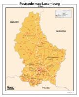 Digitale postcodekaart   Luxemburg 2-cijferig