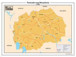 Macedonië 2-cijferige postcodekaart 90