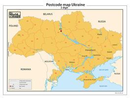 Oekraïne 2-cijferige postcodekaart 69