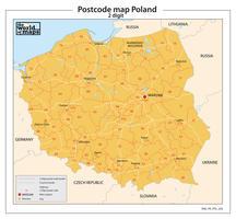 Polen 2-cijferige postcodekaart 202