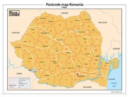 Roemenië 2-cijferige postcodekaart 204