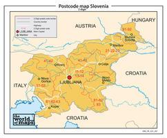 Digitale postcodekaart Slovenië 2-cijferig 207
