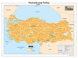 Digitale postcodekaart Turkije 2-cijferig 211