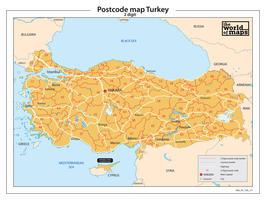 Turkije 2-cijferige postcodekaart 211
