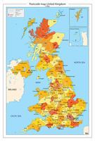 Postcodekaart United Kingdom