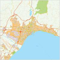 Digitale stadsplattegrond  Malaga 483