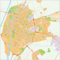Digitale kaart Sevilla / Seville 493