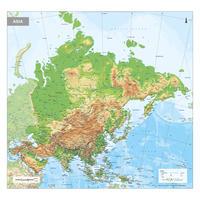 Azië Kaart Natuurkundig