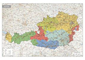 Oostenrijk Kaart Staatkundig
