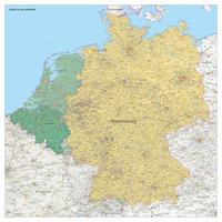 Kaart Benelux + Duitsland met staatkundige ondergrond